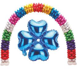 - Folyo Balon Kalp Çiçek Modeli Mavi 13ınc Pk:1 Kl:400