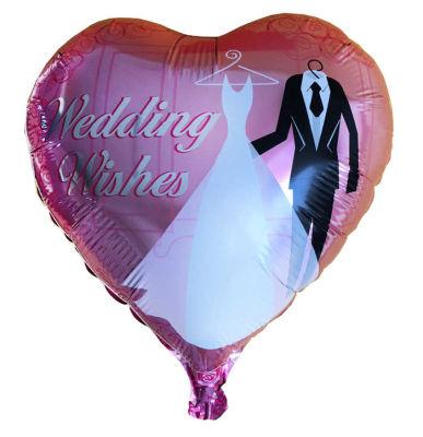 Kalpli Gelin Damatlı Folyo Balon (38x35 cm) 10'lu Paket