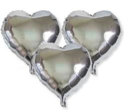 - Folyo Balon Kalpli Gümüş 12cm Pk:50 Kl:40
