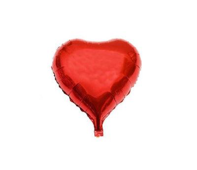 Kalpli Kırmızı Folyo Balon (38x35 cm)