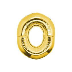 - 0 Folyo Balon Rakam Altın 40 inç (100x100 cm)