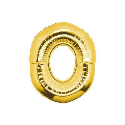 0 Folyo Balon Rakam Altın 40 inç (100x100 cm)