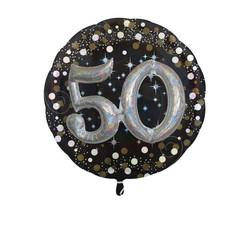 - Folyo Balon Sparklıng Bırthday 50 Yaş 81x81cm İkili Set Anagram Marka