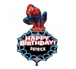 - Supershape Personalized Spiderman Folyo Balon (58x86 cm)