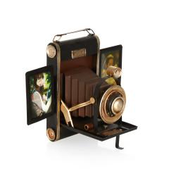 Fotoğraf Makinesi Temalı Metal Çerçeve - Thumbnail