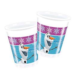 - Frozen Buz Işıltısı Plastik Bardak (200 cc) 8'li Paket
