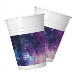 - Galaksi Parti Plastik Bardak (8 oz / 200 cc) 8'li Paket