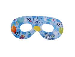 - Taçlı Happy Birthday Mavi Gözlük