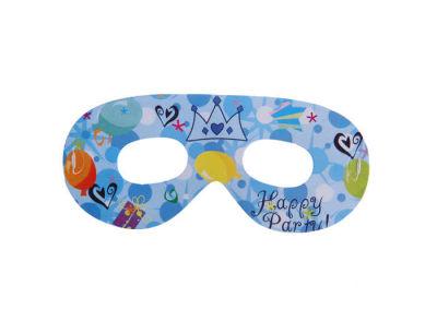 Taçlı Happy Birthday Mavi Gözlük