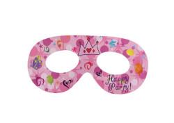 - Taçlı Happy Birthday Pembe Gözlük