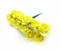 - Orta Boy Kağıttan Gül Sarı