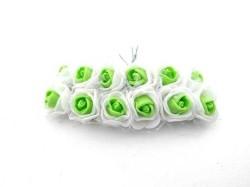 - Gül Lateks Beyaz Ortası Yeşil
