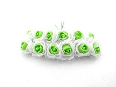 Gül Lateks Beyaz Ortası Yeşil