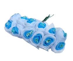 - Gül Lateks Ortası Tomurcuklu Mavi