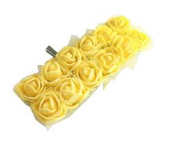 - Tüllü Sarı Lateks Gül