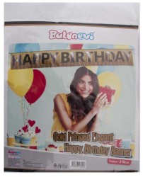 - Gold Frınged Happy Birthday Banner