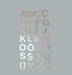 - Harf Ayna Pleksi 4 cm-f