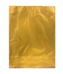 - Hediye Paketi Metalize Yapışkanlı Büyük 25x35cm Altın