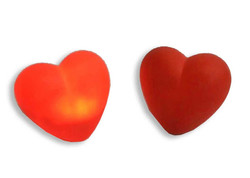 - Hediyelik Kalp Led Işıklı Plastik Kırmızı Pk:10 Kl:500