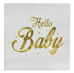 - Hello Baby Peçete Varaklı 33x33 Cm Pk:16 Kl:24