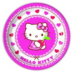 - Hello Kıtty Hearts Tabak 23cm 8'li Pk.
