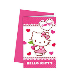 - Hello Kitty Kalpler Davetiye 6'lı Paket