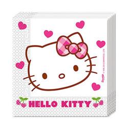 - Hello Kitty Kalpler Kağıt Peçete (33x33 cm) 20'li Paket