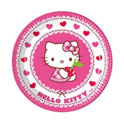 - Hello Kitty Kalpler Karton Tabak (23 cm) 8'li Paket