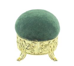 - İğnedanlık Kadife Kaplı Lavanta Kokulu Yeşil
