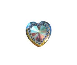 - İnci Kalp Pırlanta Görünümlü Altın