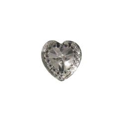 - İnci Kalp Pırlanta Görünümlü Gümüş