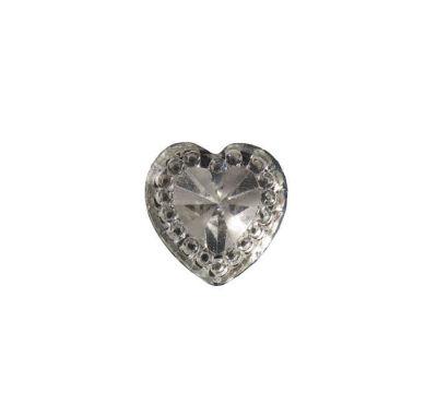 İnci Kalp Pırlanta Görünümlü Gümüş
