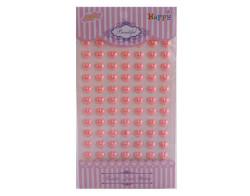 - İnci Kalp Sticker Pembe