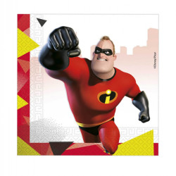- Incredibles İnanılmaz Aile Kağıt Peçete (33x33 cm) 20'li Paket