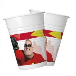 - Incredibles İnanılmaz Aile Plastik Bardak (8 oz / 200 cc) 8'li Paket