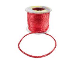 - İp Sarmalı Kordon 3mm Kırmızı