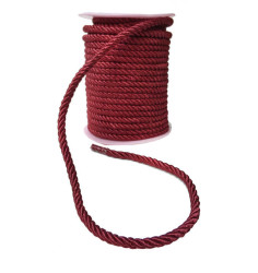 - İp Sarmalı Kordon 6mm Bordo