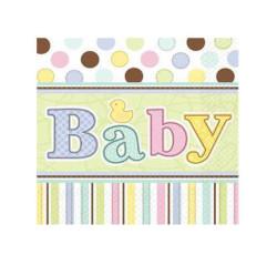 - Baby Tiny Bundle Kağıt Peçete (33x33 cm) 16'lı Paket