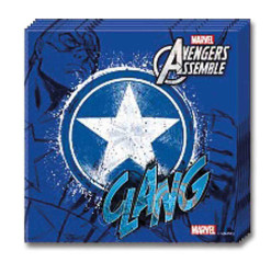 - Captain America Kağıt Peçete (33x33 cm) 20'li Paket