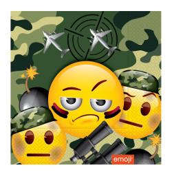 - Kamuflaj Emoji Kağıt Peçete (33x33 cm) 20'li Paket