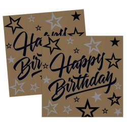 - Golden Stars Kağıt Peçete (33x33 cm) 16'lı Paket
