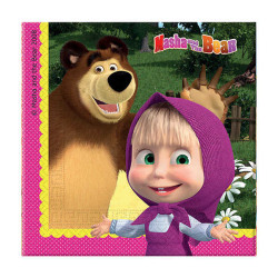 - Masha And The Bear Kağıt Peçete (33x33 cm) 20'li Paket