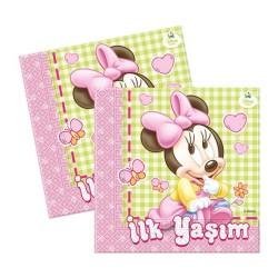 - Minnie Disney Baby Kağıt Peçete (33x33 cm) 16'lı Paket