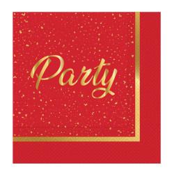 - Parti Zamanı Kırmızı Kağıt Peçete (33x33 cm) 20'li Paket