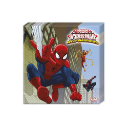 - Spiderman Web Warriors Kağıt Peçete (33x33 cm) 20'li Paket
