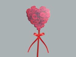 - Çubuklu Kırmızı Kalp