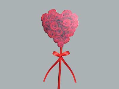 Çubuklu Kırmızı Kalp