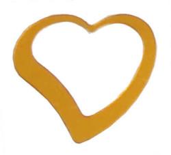 - Kalp Metalize Süsleme Altın