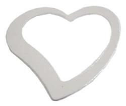 - Kalp Metalize Süsleme Gümüş