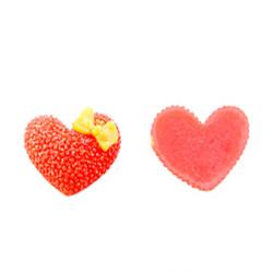 - Plastik Kırmızı Kalp Stıcker
